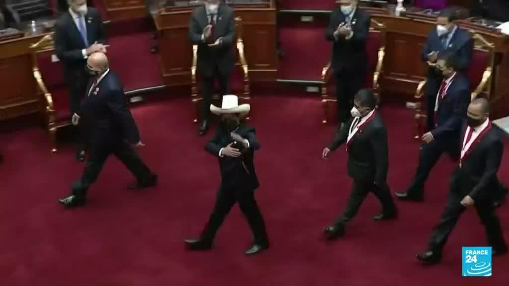 2021-08-29 13:38 Perú: Pedro Castillo cumplió un mes en el poder en medio de múltiples crisis