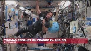 Thomas Pesquet on France 24 and RFI
