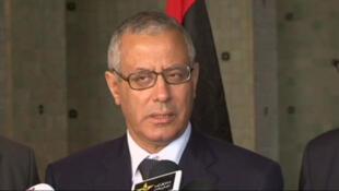 Le Premier ministre libyen Ali Zeidan