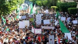 متظاهرون في العاصمة الجزائر. 23 أغسطس/آب 2019.