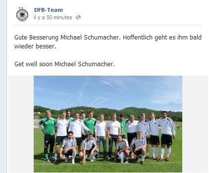 Le message de l'équipe d'Allemagne de football