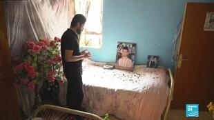 Dans la chambre de Haïder, mort le 3octobre lors de manifestations contre le pouvoir à Nassiriya.