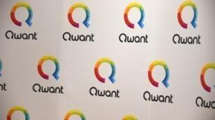 Le logo du moteur de recherche Qwant, le 14 juin 2018 à Paris