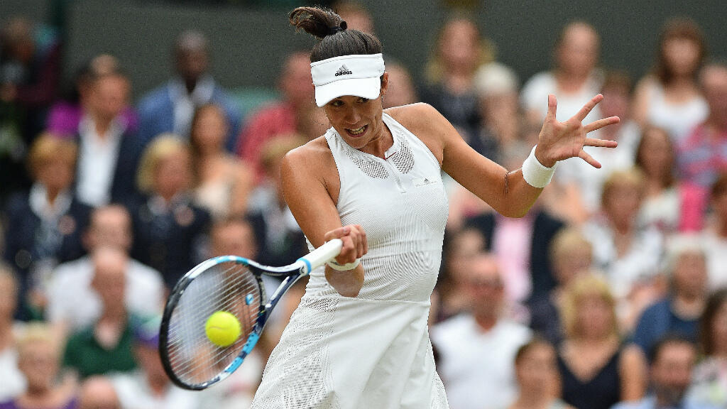 L'Espagnole Garbiñe Muguruza a remporté le tournoi de Wimbledon, à Londres, le 15 juillet 2017.