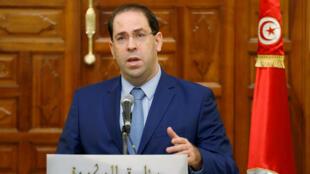 Le Premier ministre tunisien, Youssef Chahed, a annoncé l'arrivée de 10 nouveaux ministre, le 5 octobre 2018.