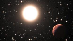 رسم نشره المرصد الأوروبي الجنوبي لأحد الكواكب التي تم اكتشافها