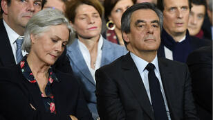 François et Penelope Fillon lors du meeting organisé par Les Républicains à la Vilette, le 29 décembre 2017.