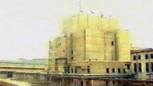 Cette photo datant de mai 1992 montre une vue extérieure du réacteur nucléaire de Yongbyon.