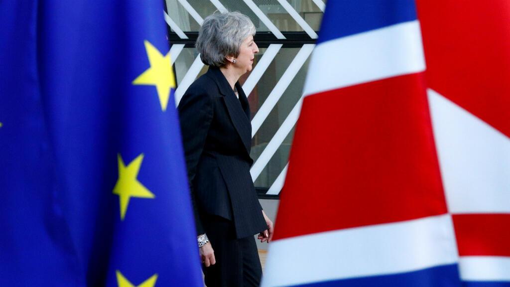 La primera ministra británica Theresa May, llega a una cumbre de líderes de la Unión Europea en Bruselas, Bélgica, el 13 de diciembre de 2018.