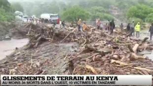 Des pluies torrentielles en Afrique de l'est ont provoqué la mort d'au moins 29 personnes au Kenya, le 23 novembre 2019.