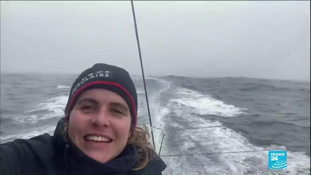 2021-02-04 12:13 Vendée Globe : arrivée de Clarisse Crémer, première femme au classement