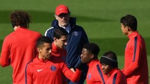 Laurent Blanc et ses hommes préparent le quart de finale aller de Ligue des champions face à City.