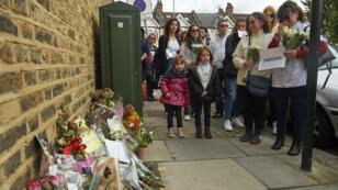 Manifestations des proches de la jeune fille au pair française Sophie Lionnet à Londres, en octobre2017.