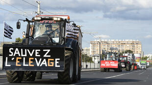 Des agriculteurs manifestent à Paris, le 3 septembre 2015.