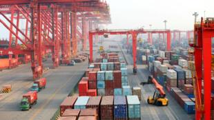 Vue du port de Shangdong.