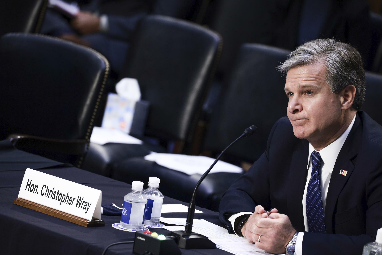 Le directeur du FBI, Christopher Wray, témoigne devant la commission judiciaire du Sénat au sujet de la gestion par le bureau de l'enquête sur les agressions sexuelles commises par l'ancien médecin de l'équipe de gymnastique américaine Larry Nassar.