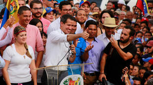 El líder opositor, Juan Guaidó, durante su visita en Barquisimeto, Venezuela. 25 de mayo de 2019.