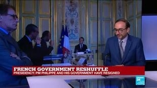 2020-07-03 10:33 French PM Edouard Philippe and cabinet resign, government reshuffle 'in the next hours'