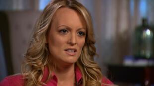 Stephanie Clifford durante una entrevista con Anderson Cooper del programa 60 Minutes de CBS News realizada a principios de marzo de 2018.