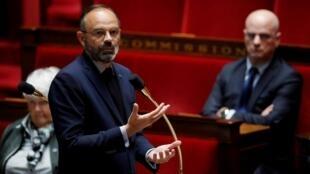 Le Premier ministre Edouard Philippe à l'Assemblée nationale le 12 mai 2020