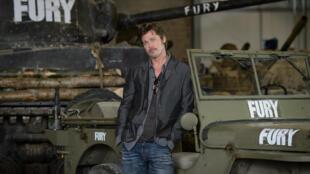 """Le film """"Fury"""" avec Brad Pitt a été téléchargé plus de deux millions de fois depuis qu'il a été illégalement mis en ligne."""