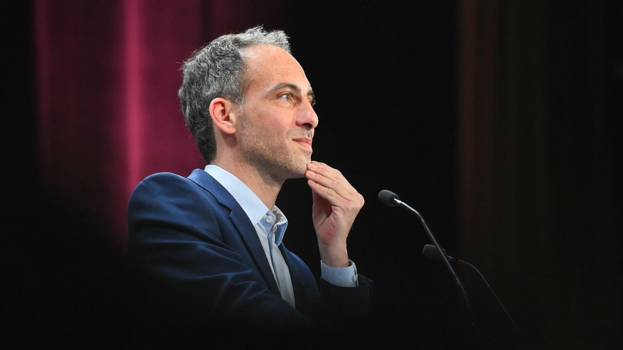 Raphaël Glucksmann, la tête de liste PS/Place Publique pour les Européennes.