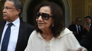 Chadlia Caïd Essebsi, les 27 juillet 2019, lors des funérailles de son époux, Béji Caïd Essebsi.