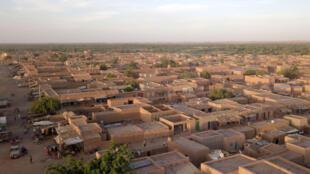 An aerial view of of Menaka, Mali on November 22, 2020.