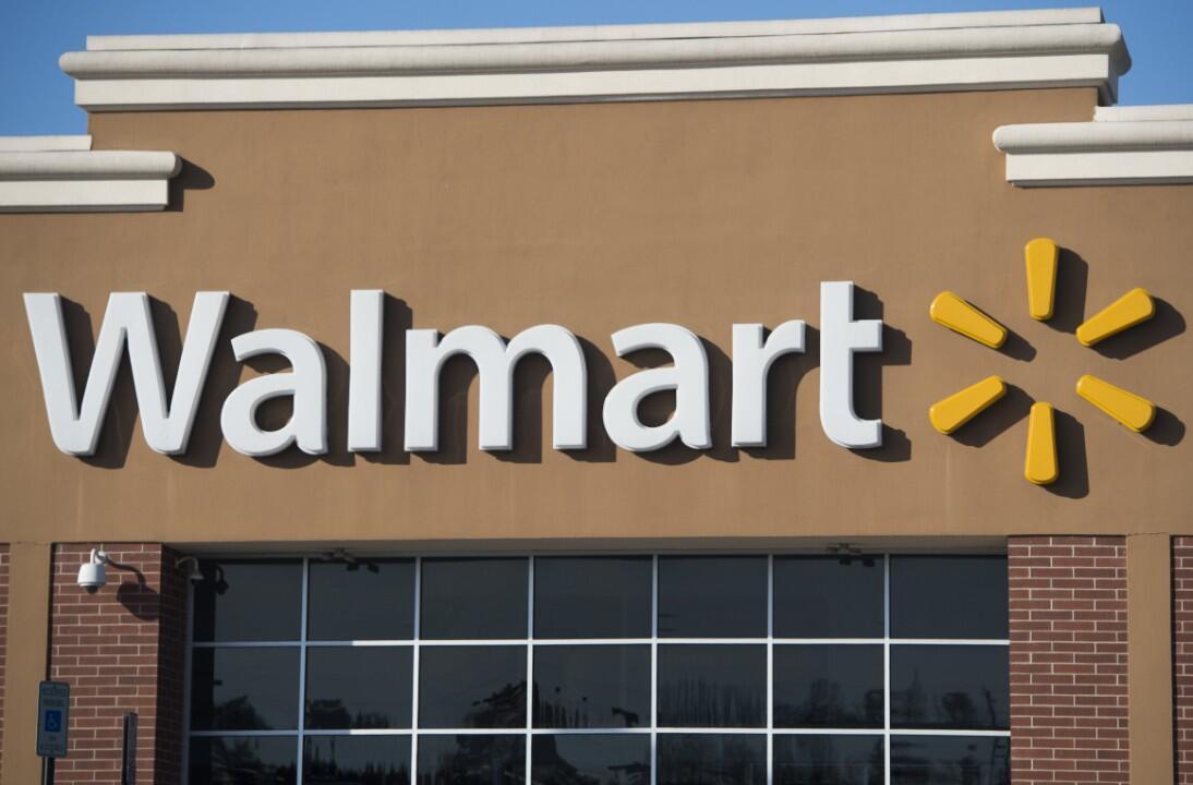 La devanture d'un magasin Walmart dans le Maryland.
