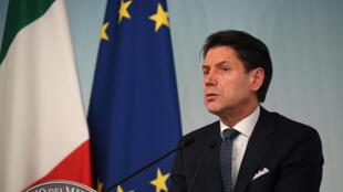 رئيس الوزراء الإيطالي جوزيبي كونتي. روما 14 أغسطس/ آب 2019.
