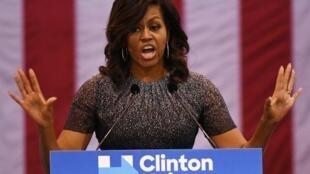 Michelle Obama, lors d'un meeting démocrate, le 7 novembre 2016 dans le New Hampshire.