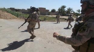 دورية للجيش العراقي في الكرمة غرب بغداد شرق محافظة الأنبار 26 نيسان/أبريل 2015