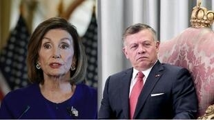 Nancy Pelosi Jordan's King Abdullah AFP Archives