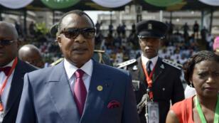 Le président Denis Sassou Nguesso lors d'un déplacement au Nigeria, le 29 mai à Abuja.