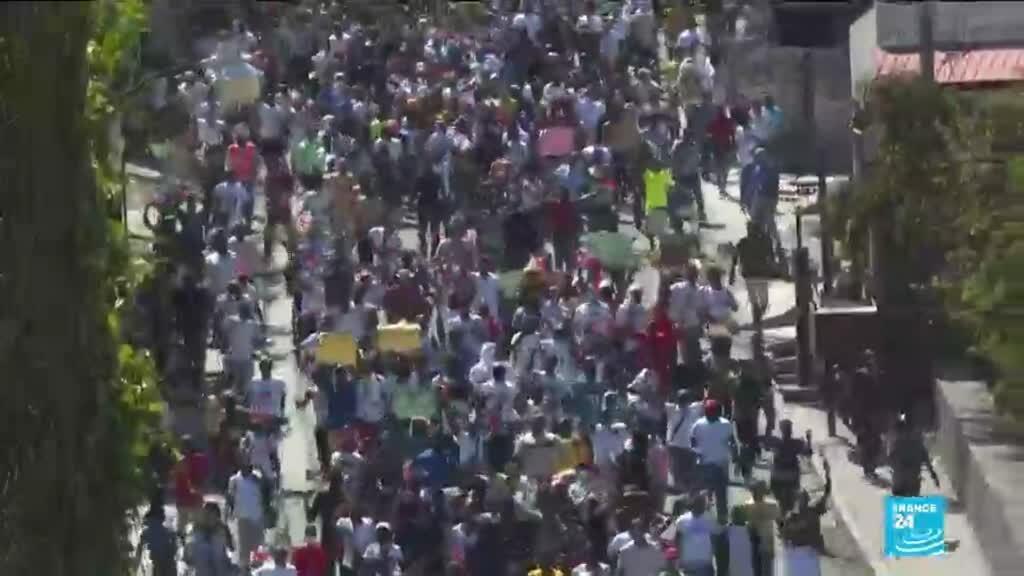 2021-02-15 10:40 Haïti : plusieurs milliers de manifestants contre un retour de la dictature
