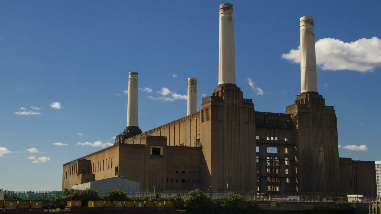 Battersea Power Station, an iconic symbol of London's former industrial prowess, in 2012.