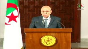 Le chef de l'État par intérim, Abdelkader Bensalah, s'est exprimé dimanche soir à la télévision publique.