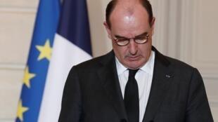 El primer ministro francés, Jean Castex, fue el encargado de anunciar las nuevas restricciones y el cierre de fronteras tras una reunión del Ejecutivo. En París, Francia, el 29 de enero de 2021.