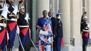 L'ambassadrice Christine-Nina Niyonsavye était à l'Élysée le 13 octobre 2017.
