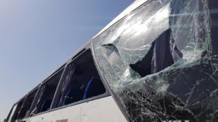 حافلة السياح التي استهدف في قرب الأهرام في القاهرة 19 مايو/أيار 2019