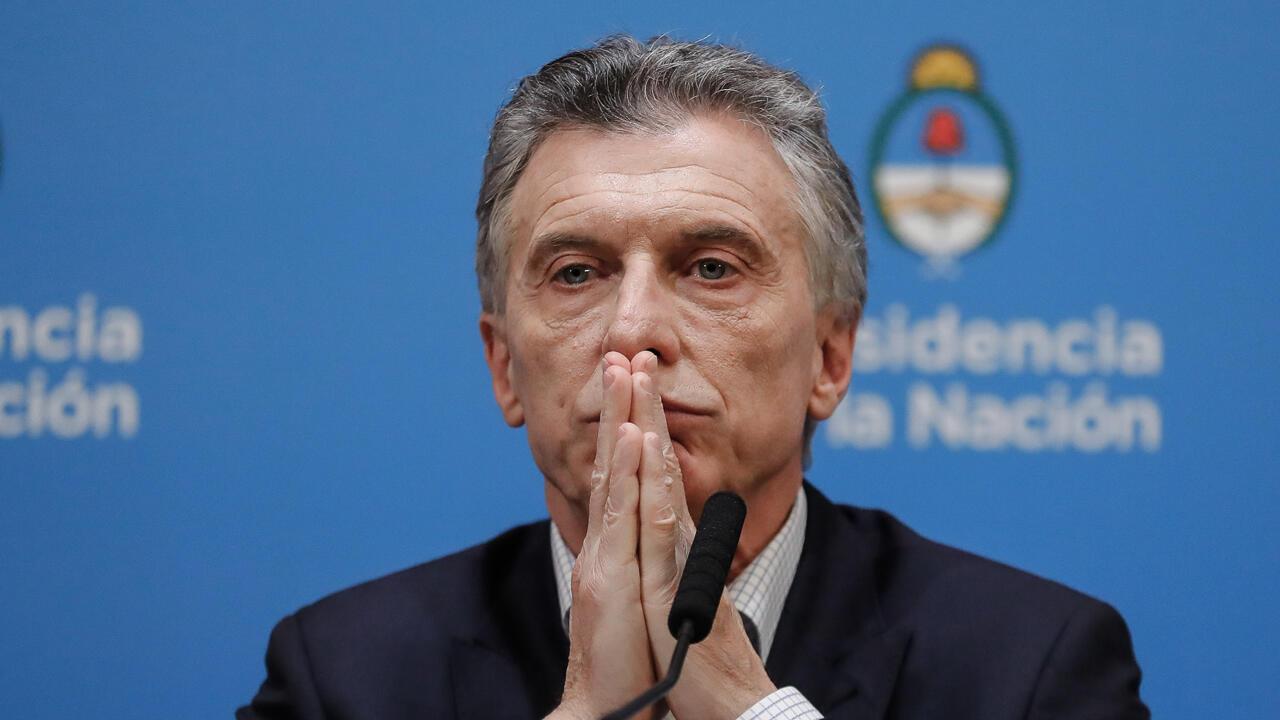 El presidente argentino, Mauricio Macri, en la rueda de prensa posterior a su derrota electoral, el pasado 12 de agosto en Buenos Aires.