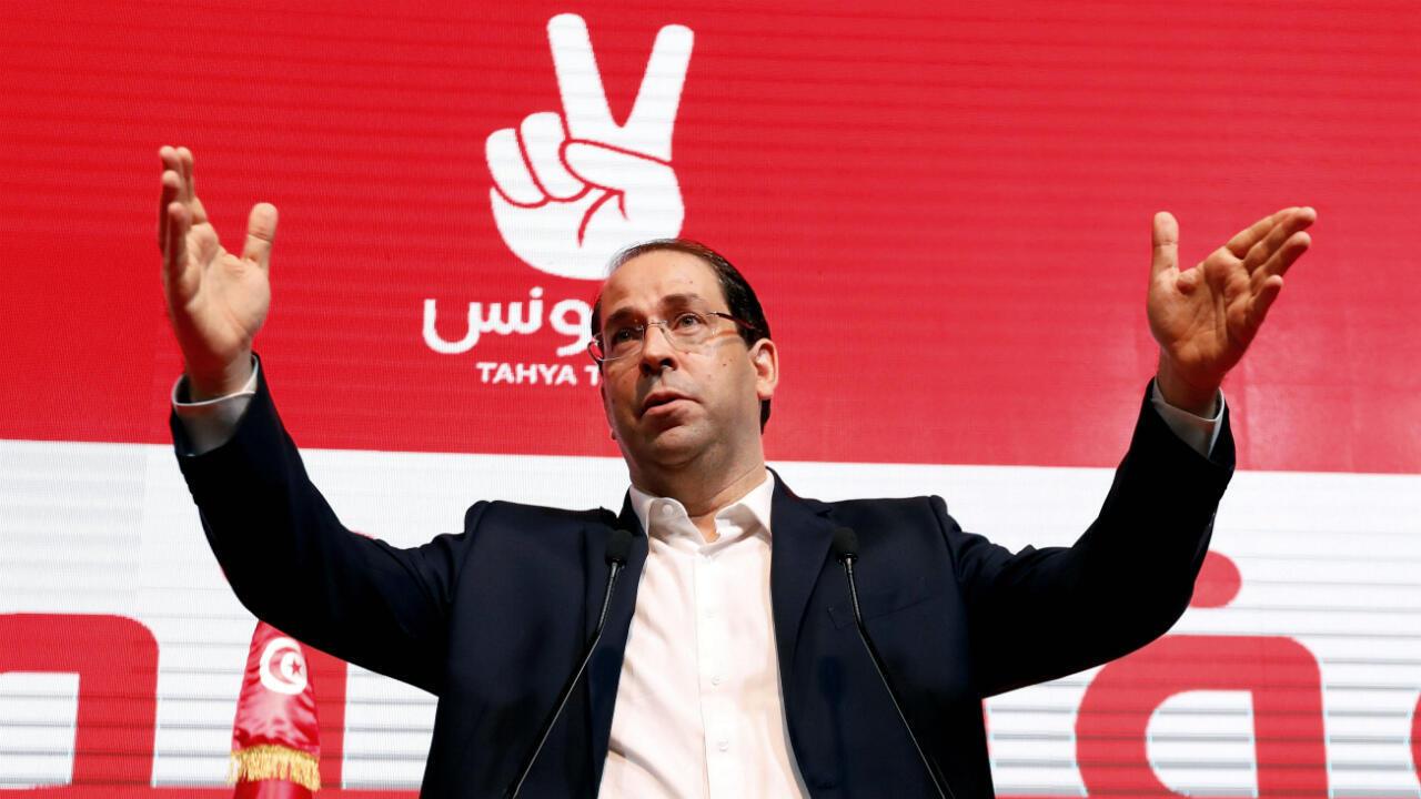 Le Premier ministre tunisien et président du parti politique Tahya Tunis, Youssef Chahed, à Tunis, le 8 août 2019.