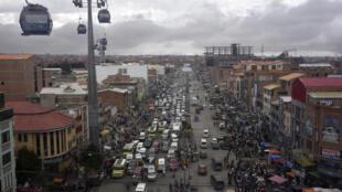 Vista de El Alto y La Paz, el 29 de septiembre de 2020