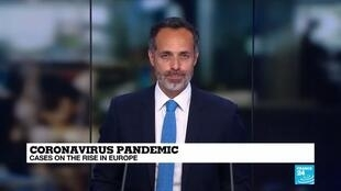 2020-08-21 10:11 Coronavirus on the rise across Europe