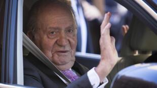 ملك إسبانيا السابق خوان كارلوس في بالما دي مايوركا في الأول من نيسان/أبريل 2018