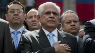 Omar Barboza, el nuevo presidente del Parlamento de Venezuela, durante el evento de instalación de la junta directiva de la Asamblea Nacional que se llevó a cabo el 5 de enero en Caracas.