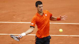 Le Serbe Novak Djokovic à Roland Garros