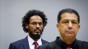 أحمد الفقي المهدي في جلسة استماع قبل المحاكمة في سبتمبر عام 2015 أمام المحكمة الجنائية الدولية