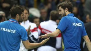 Les Bleus, lors de leur victoire face à l'Allemagne au tour précédent.
