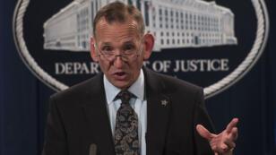 Le directeur du US Secret Service, Randolph Alles, lors d'une conférence de presse au département de la Justice à Washington, le 26 octobre 2018.